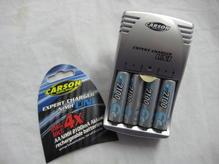 TA606076 Expert NiMH Akkuladegerät mit 4 Ansmann wiederaufladbaren Mignonbatterien AA