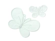 Applikationen - Patches - zum Aufbügeln - Schmetterlinge weiß