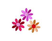 Applikationen - Patches - zum Aufbügeln - 3 Blüten