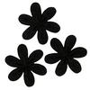 Applikationen - Patches - zum Aufbügeln - 3 Blumen Schwarz