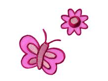 Applikationen - Patches - zum Aufbügeln - Blume und Schmetterling