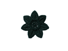 Applikationen - Patches - zum Aufbügeln - Blüte schwarz
