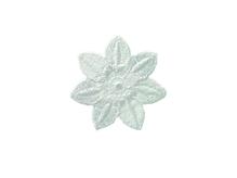 Applikationen - Patches - zum Aufbügeln - Blüte weiß