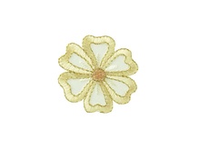 Applikationen - Patches - zum Aufbügeln - Blüte, klein creme
