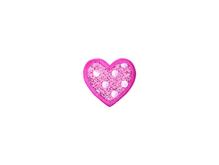 Applikationen - Patches - zum Aufbügeln - Pailletten Herz rosa