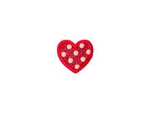 Applikationen - Patches - zum Aufbügeln - Pailletten Herz rot