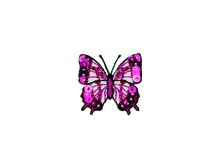 Applikationen - Patches - zum Aufbügeln - Schmetterling Pailletten pink