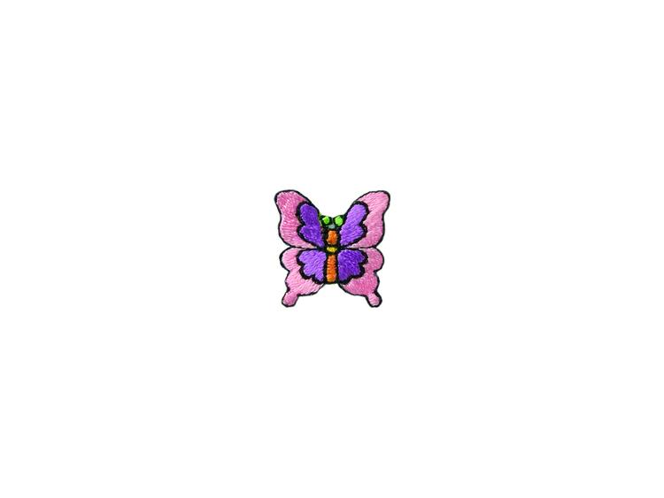 Applikationen - Patches - zum Aufbügeln - Schmetterling rosa