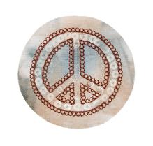 Applikationen - Patches - zum Aufbügeln - Peace gebatikt