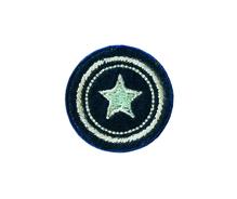 Applikationen - Patches - zum Aufbügeln - Kreis mit Stern