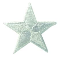 Applikationen - Patches - zum Aufbügeln - Stern weiß