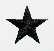 Applikationen - Patches - zum Aufbügeln - Stern schwarz