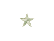 Applikationen - Patches - zum Aufbügeln - Stern silber