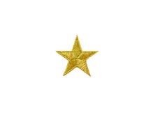 Applikationen - Patches - zum Aufbügeln - Stern gold