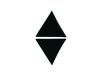 Applikationen - Patches - zum Aufbügeln - 2 schwarze Dreiecke