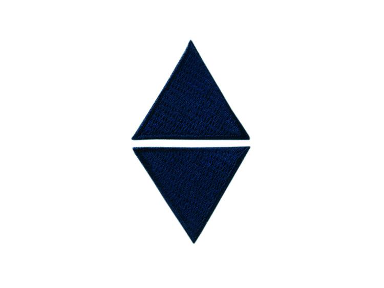 Applikationen - Patches - zum Aufbügeln - 2 blaue Dreiecke