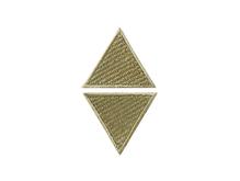 Applikationen - Patches - zum Aufbügeln - 2 beige Dreiecke