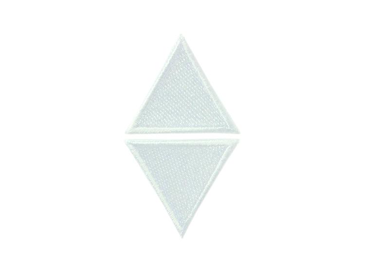 Applikationen - Patches - zum Aufbügeln - 2 weiße Dreiecke