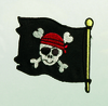 Applikationen - Patches - zum Aufbügeln - Piratenflagge