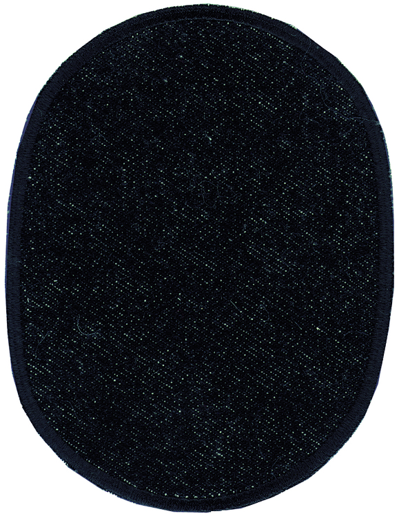 Applikationen - Patches - zum Aufbügeln - 2 Flicken / Jeans schwarz gekettelt