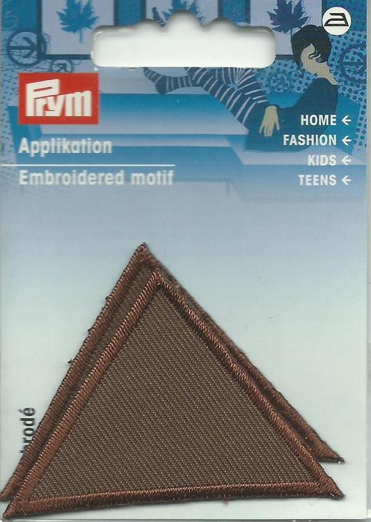 Applikationen - Patches - zum Aufbügeln - 2 Dreiecke braun