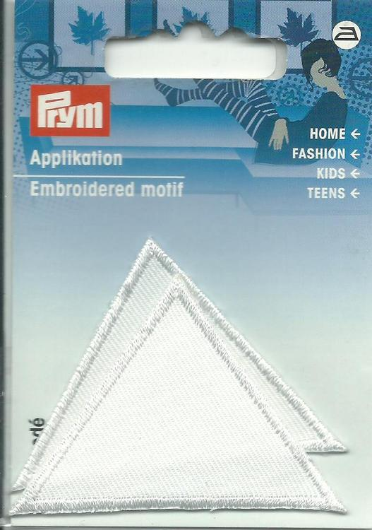 Applikationen - Patches - zum Aufbügeln - 2 Dreiecke weiß