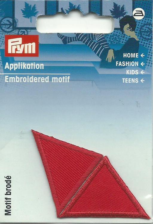 Applikationen - Patches - zum Aufbügeln - 2 Dreiecke rot