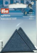 Applikationen - Patches - zum Aufbügeln - 2 Dreiecke jeans