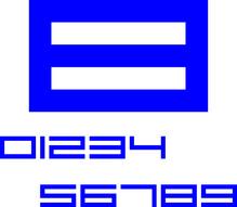 Digit.Segelnummer-380mm/blau