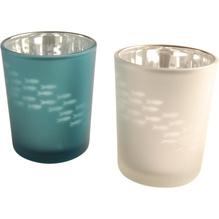 Teelichthalter, Windlicht mit Fisch-Motiv, 2er-Set