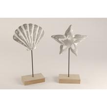 Deko-Set aus Holz: Muschel und Seestern