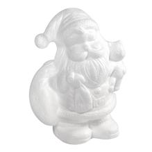 Styropor-Weihnachtsmann m. Bär, 17,5 cm