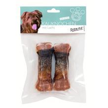 Dokas Dog Snack 10 cm Kauknochen mit Lachs Sparpaket