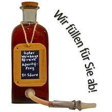 Roter weinbergpfirsich aperitif essig obstessig aromatisiert amphore