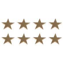Wachsmotiv: Stern, 1,4cm ø, SB-Btl 8Stück, gold