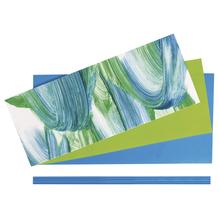 Set: Verzierwachs Kommunion, farblich sortiert, SB-Btl 1Set, blau/grün
