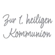 Wachsschrift: Zur 1.heiligen Kommunion, SB-Btl 1Stück, silber