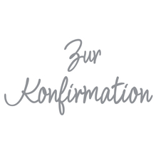 Wachsschrift: Zur Konfirmation, SB-Btl 1Stück, silber