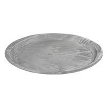 Deko Platte in Betonoptik, 30cm ø, 3cm, weiß gewischt