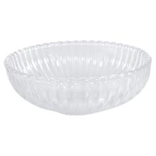 Glas Schale gerillt, 14,5x14,5x4,5cm