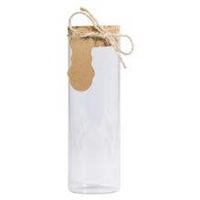 Glas Gefäß m. Kork Deckel, 4,5cm ø, 13,5cm, 150ml