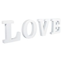 MDF- Buchstaben LOVE, weiß, 44,5x2x11cm, PVC-Box 1Stück