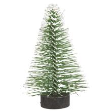 Deko-Tannenbaum beschneit, 5cm, grün, PVC-Box 8Stück
