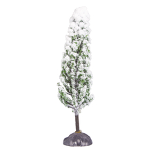 Deko-Zypresse beflockt, 15cm, grün, PVC-Box 1Stück