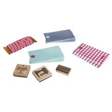 Set-Papier-Geschenkanhänger, Tags+Band+Stempel, SB-Btl
