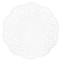 Spitzenpapier Rund, 16cm ø, SB-Btl 20Stück, weiß