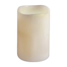 LED-Stumpenkerze warmweiß, 7,5cm ø, 15cm, mit Flacker-Effekt und Timer, creme