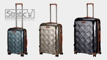 Stratic Leather&More Champagne Koffer -S-M-L- 55cm 65cm 75cm Premium Leder Trolley