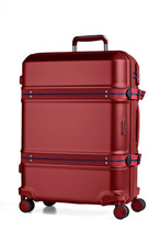 March15 Trolley Trunk  -S-M-L- 55cm 65cm 75cm Hartschalen-Koffer Red, Black, Blue mit integrierte Kofferbänder