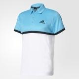 Adidas Herren Tennispolo Court Fb. weiß/sambablue/black